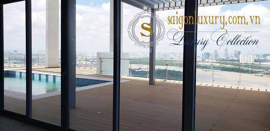 Thực tế căn hộ Penthouse Đảo Kim Cương (Hiện trạng bàn giao thô, hoàn thiện hồ bơi)