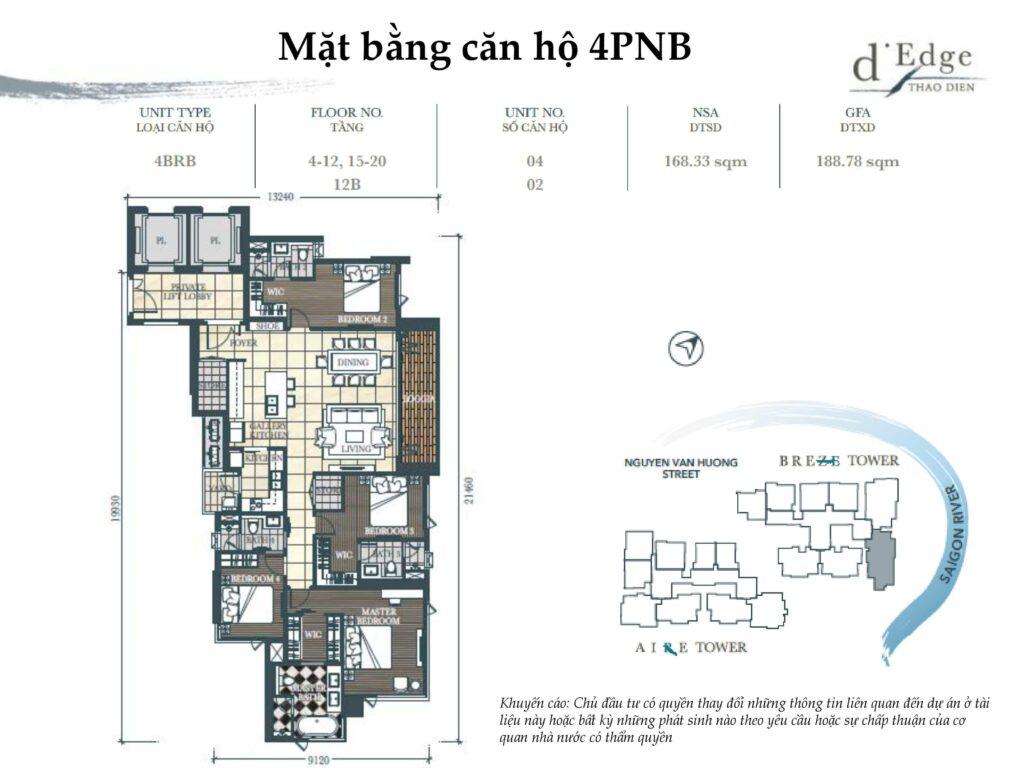 Thiết kế căn hộ 4PN tại D'Edge Thảo Điền